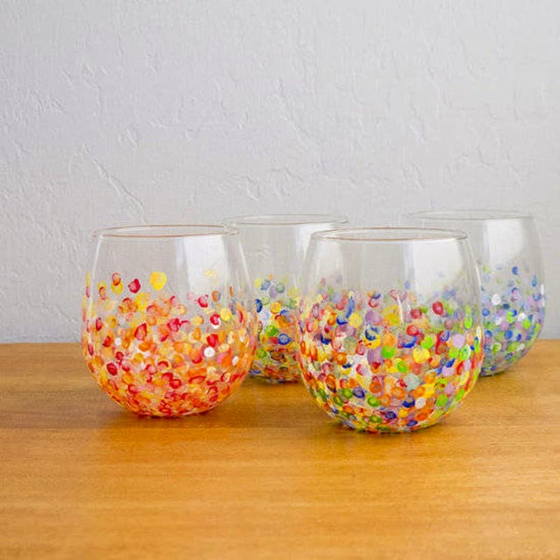 Pretty paint dotted glasses