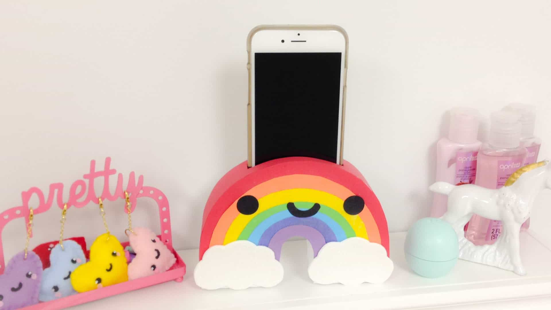 Rainbow phone holder