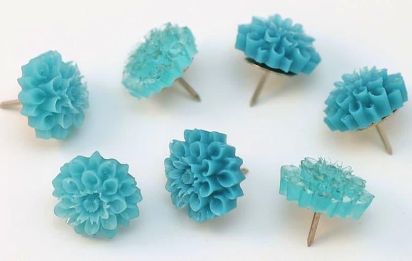 Resin flower tacks