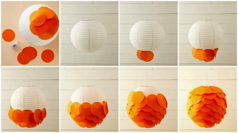 Scaled paper lantern