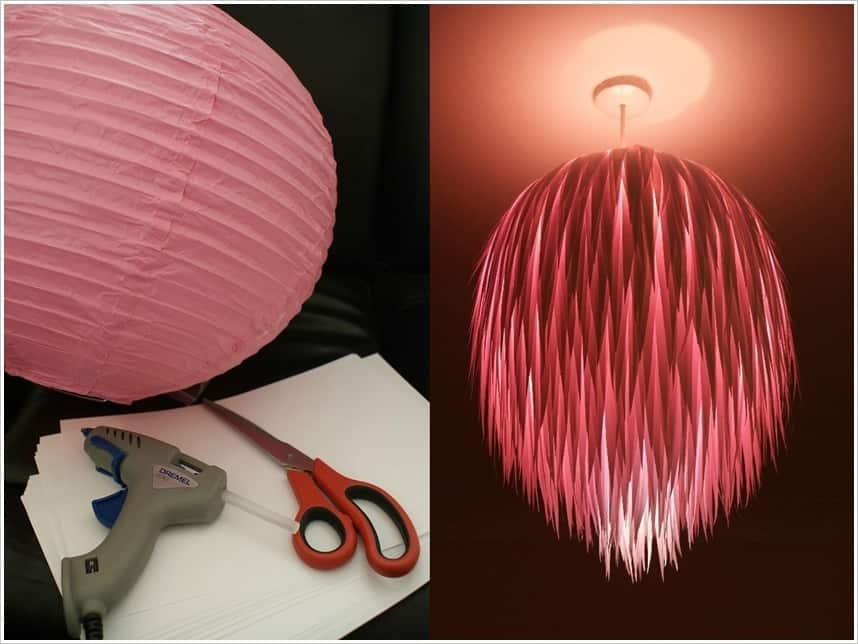 Scrap paper lamp