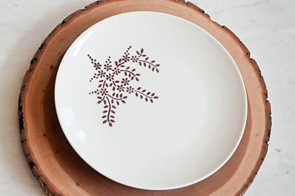 Stencil dinnerware
