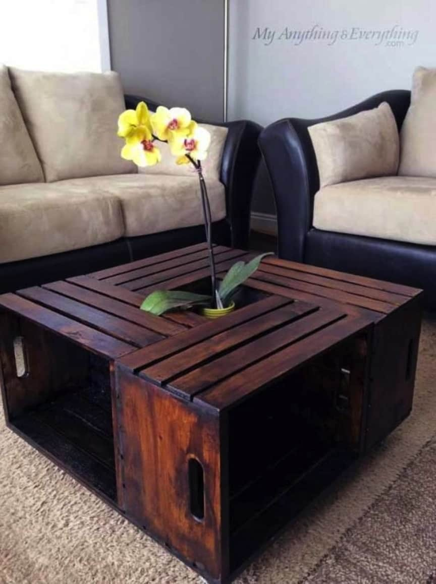 Tiled crate coffee table