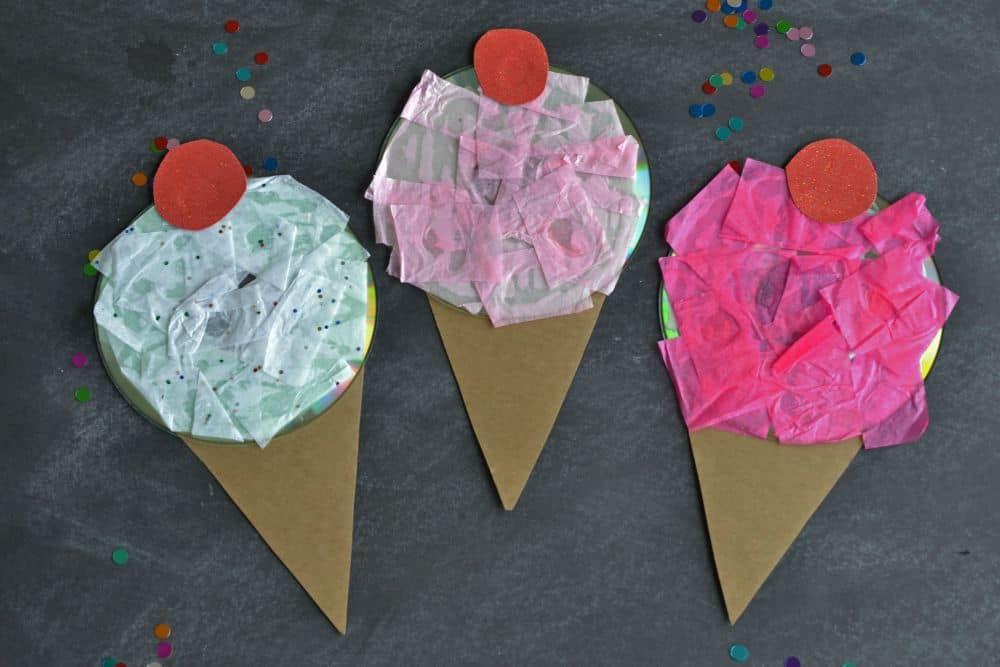 Upcycled CD Ice cream