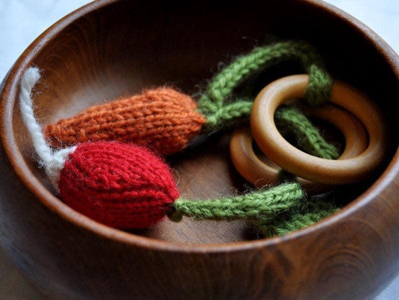 Vegetable teething rings