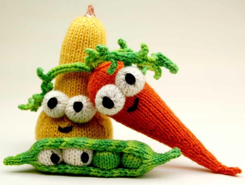 Veggie plushies