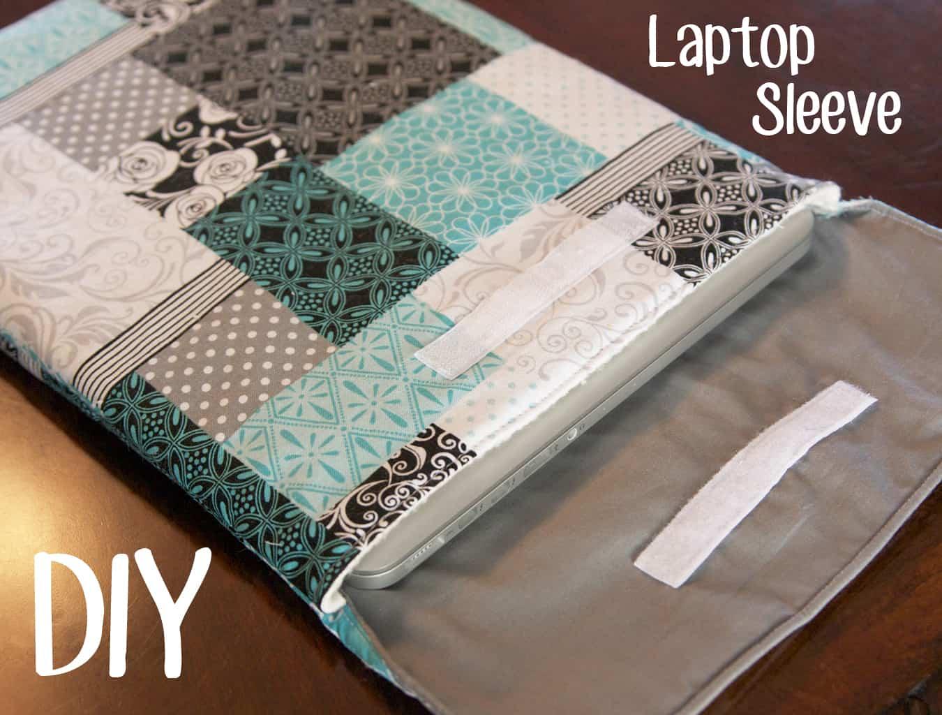 Velcro laptop sleeve
