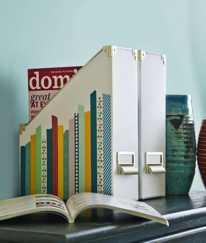 Washii tape magazine organizer