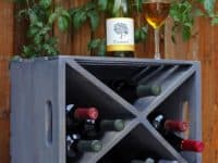 Wood crate wine rack 200x150 14 Awesome Projects Using Crates