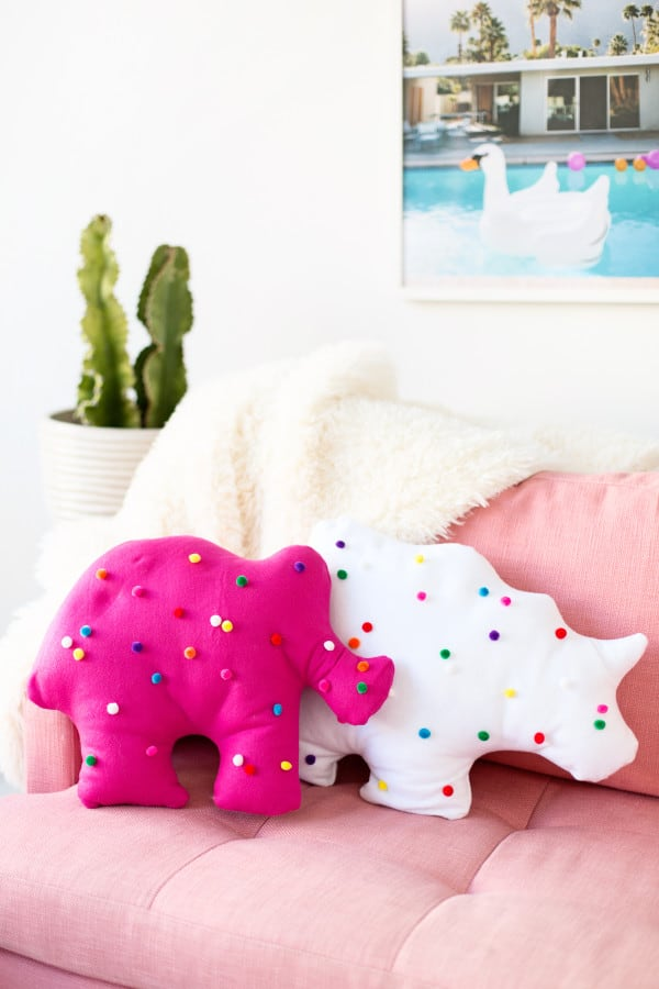 Animal cookie pillow
