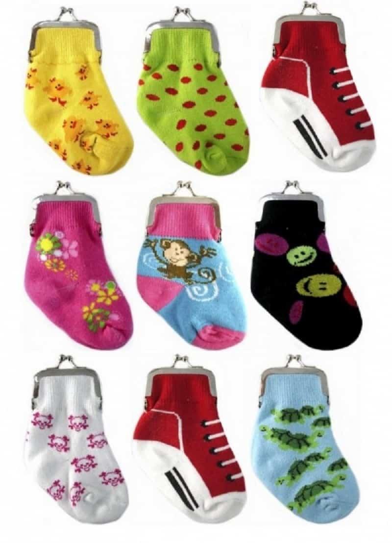 Baby sock coin purses