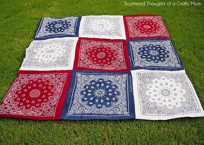 DIY Multi-bandana quilt
