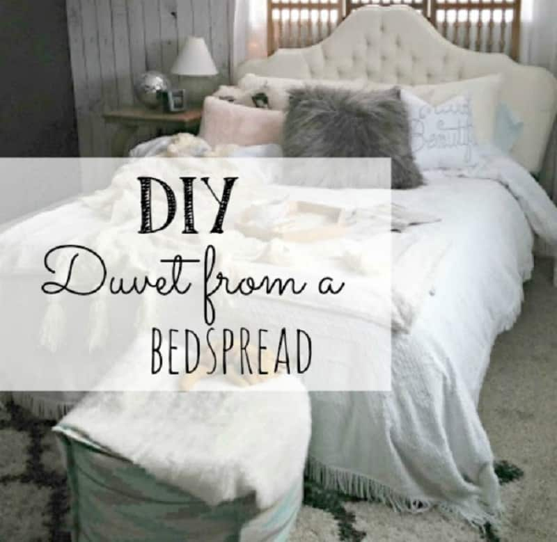DIY duvet cover from an old bead spread