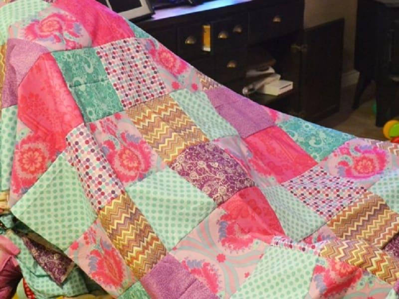 DIY patchwork duvet