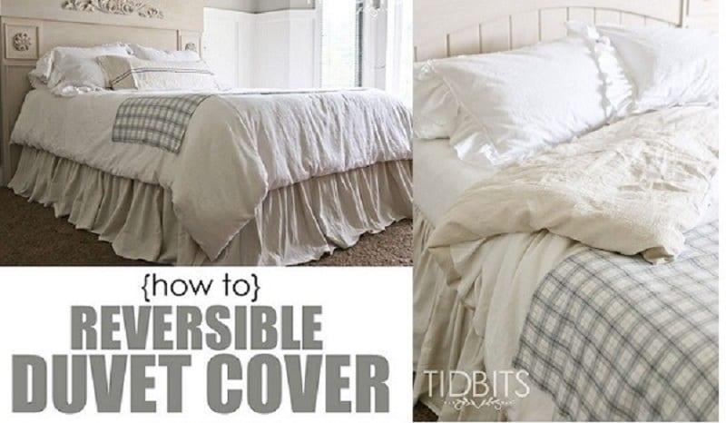 DIY reversible duvet cover