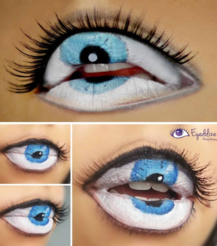 Eyeball and lash lips