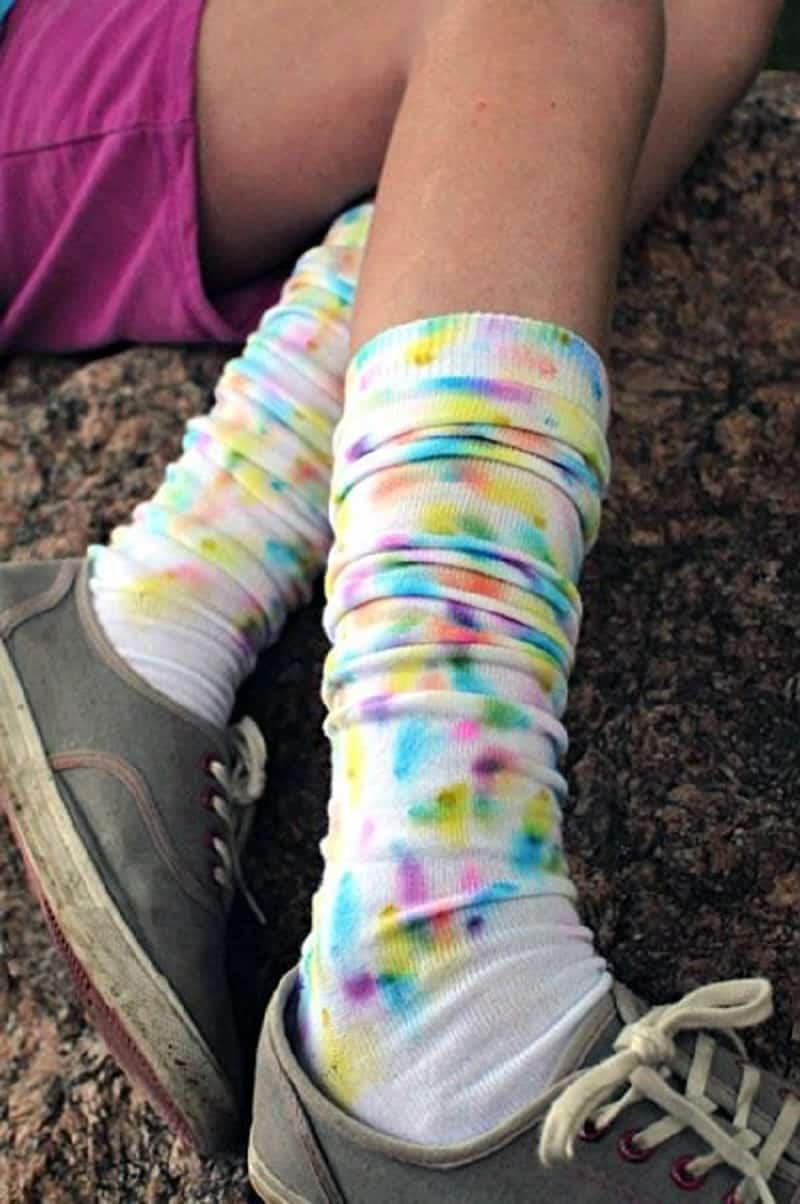 Fau tie dye socks