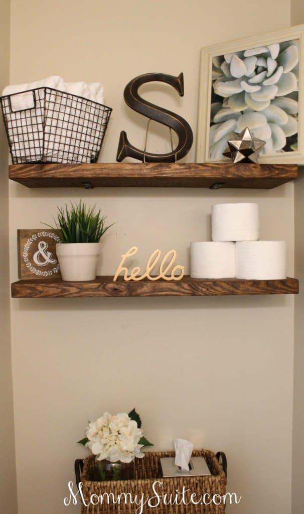 Faux floating shelves