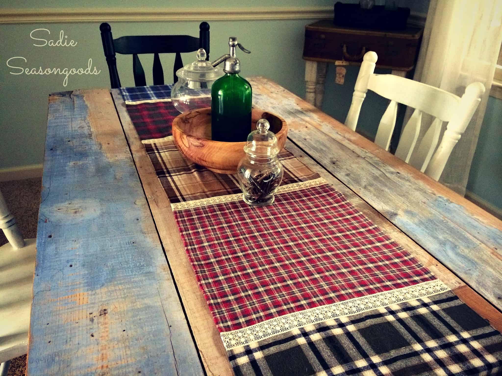 Flannel table runner
