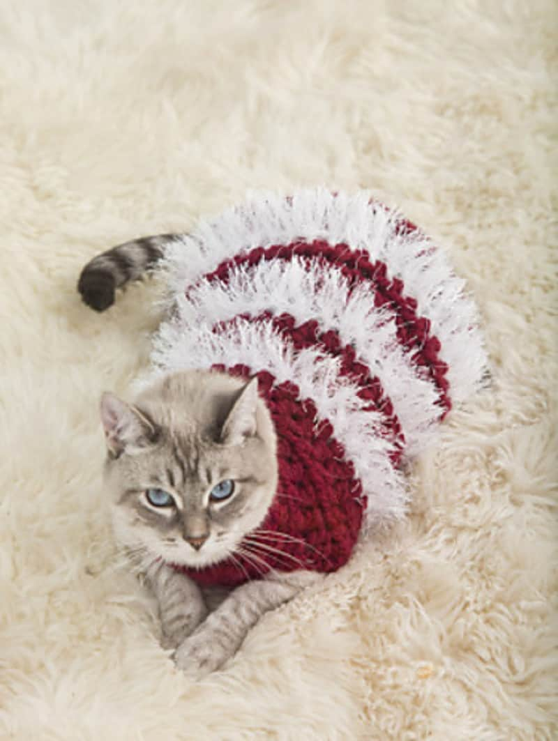 Fuzzy holiday sweater