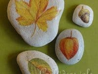 Leaf and stone paper weights 200x150 Pretty Crafts Involving Leaves