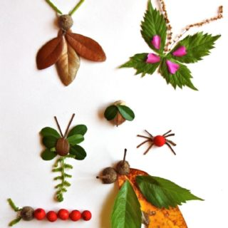 Pretty Crafts Involving Leaves