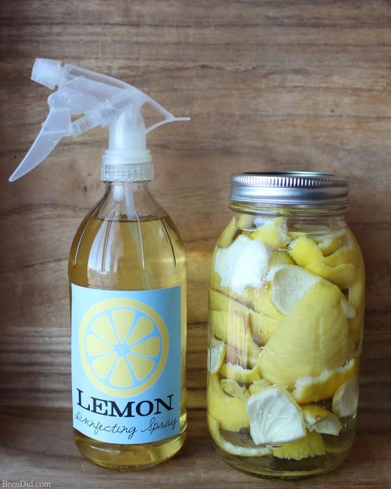 Lemon disinfecting spray