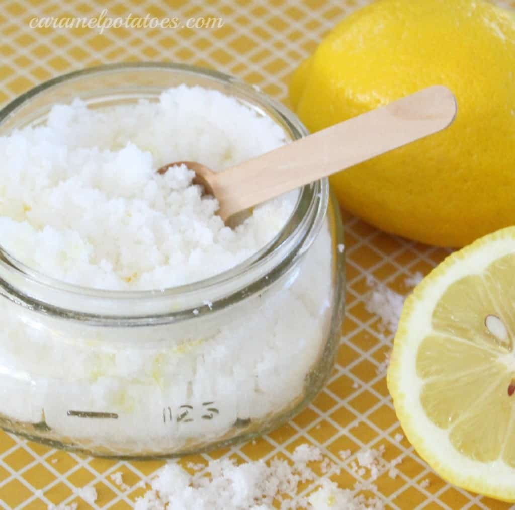 Lemon hand scrub