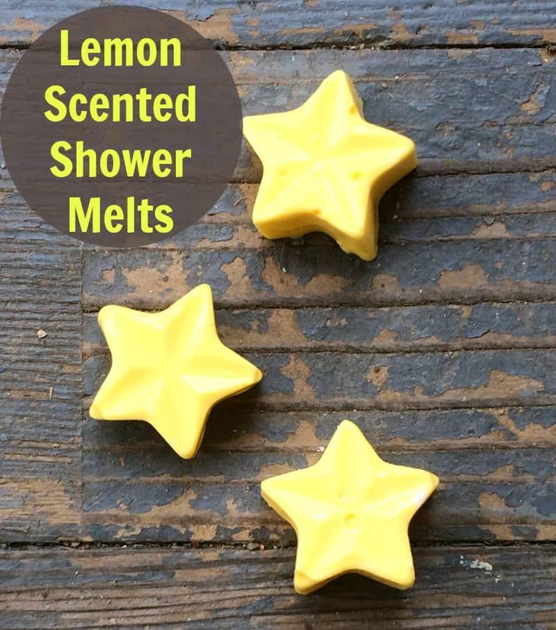 Lemon shower melts