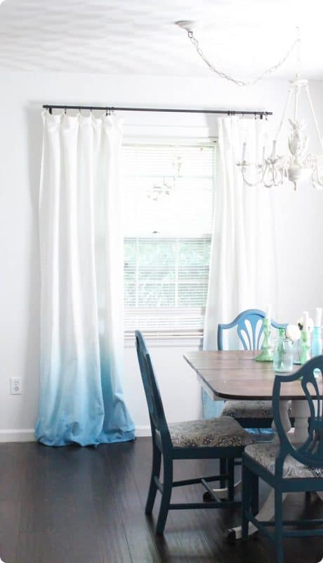 Light blue ombre curtains