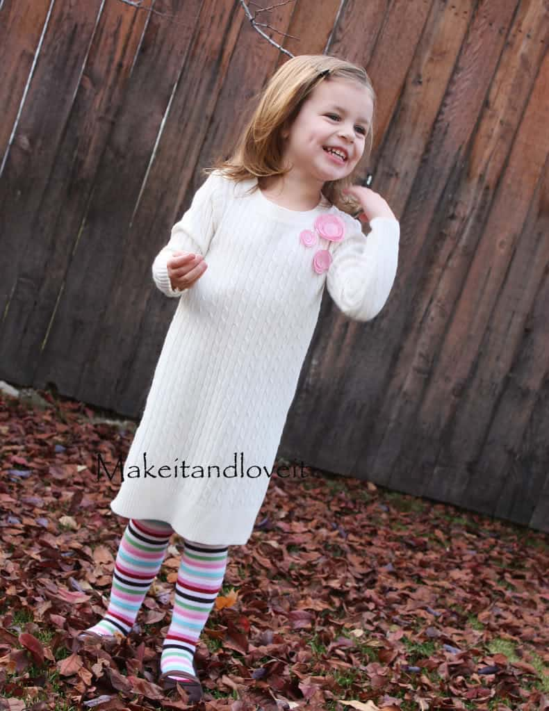 Little girl's sweater dress