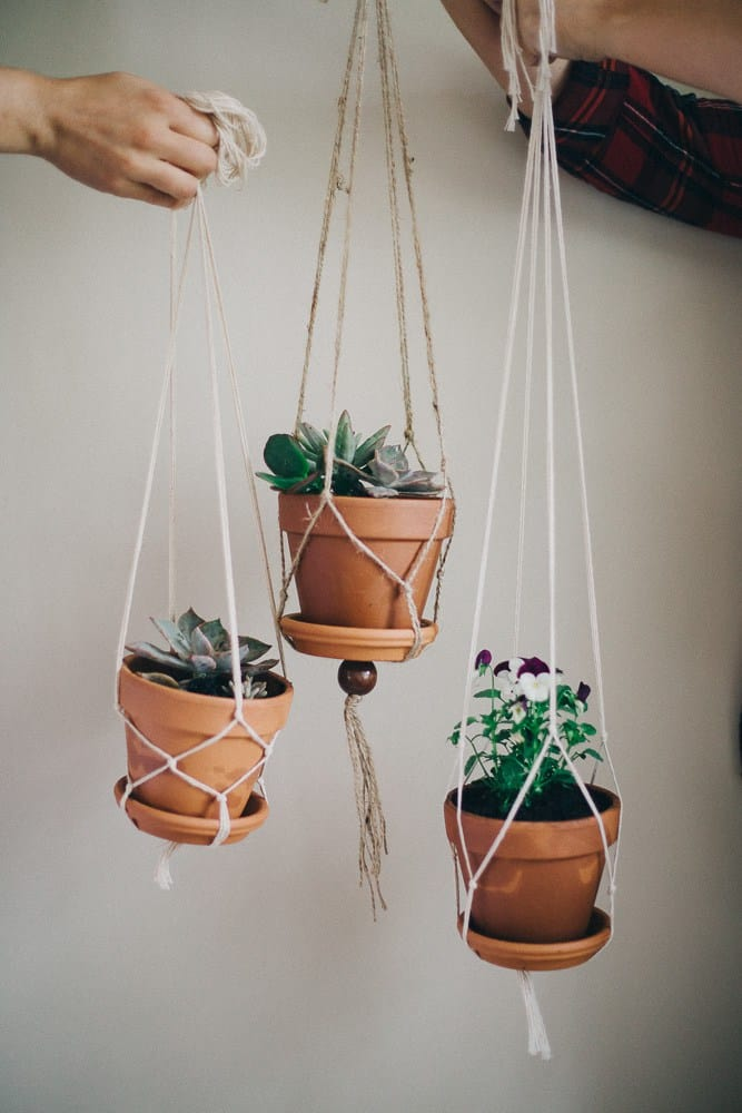 macrame plant hangers diy diy macrame plant holders a chic way to hang indoor plants 6727
