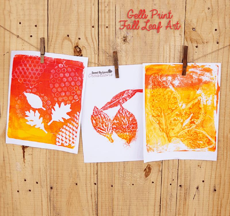 Painted leaf prints