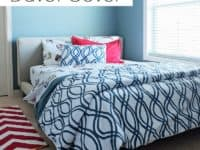 Painterly duvet cover 200x150 Homemade Comfort: DIY Duvet Cover Patterns