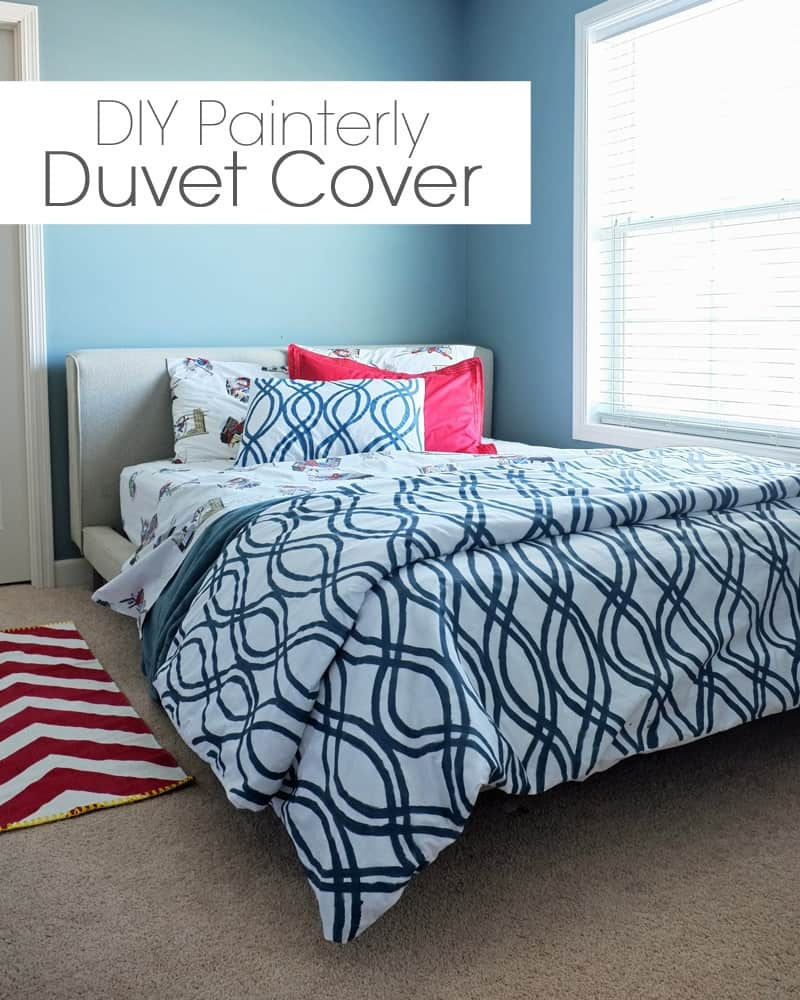 Painterly duvet cover