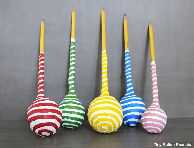 Paper mache pencils