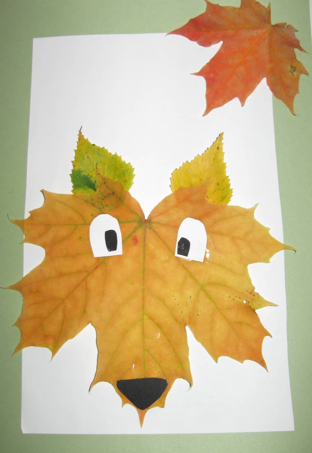 Pasted leaf puppy dog