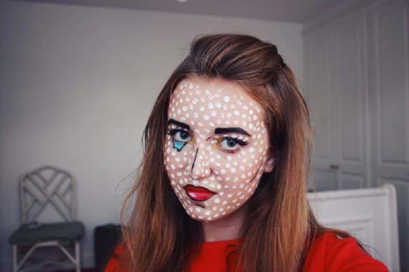 Pop art comic lips