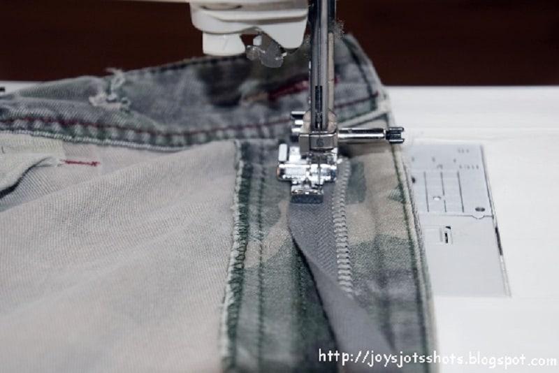 Replacing the zipper