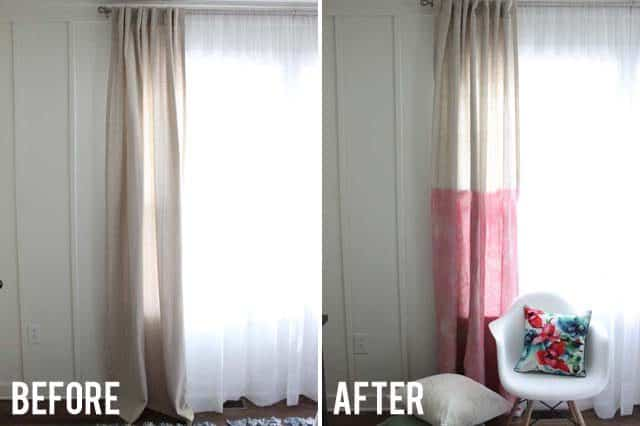 Rosy dip dye curtains