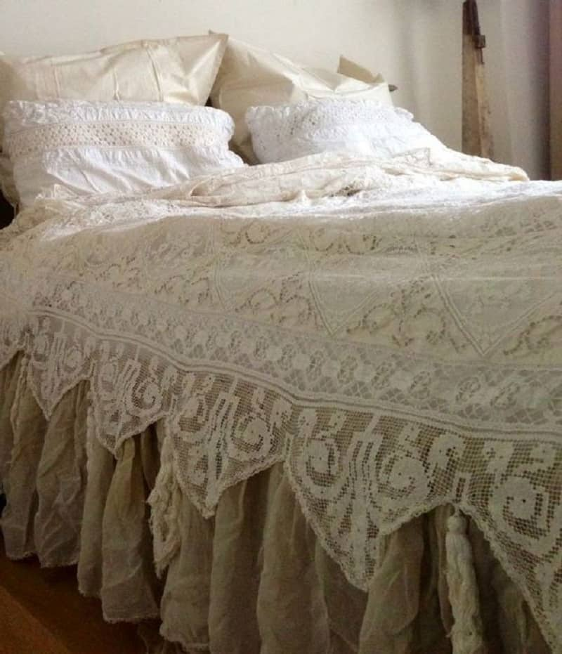 Shabby chich lace duvet