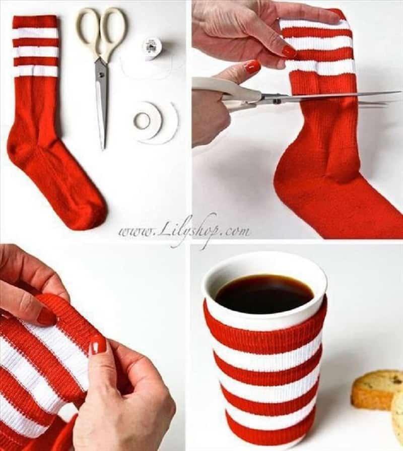 Sock mug warmer