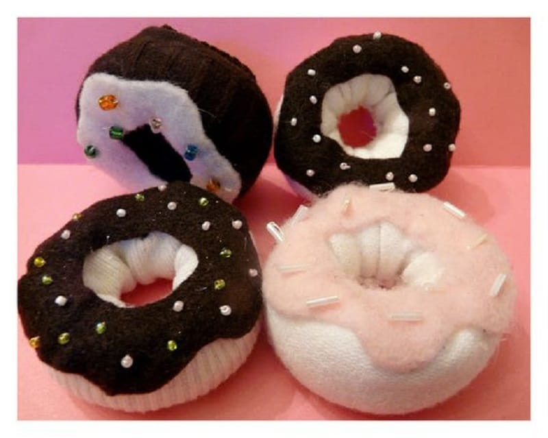 Stuffed sock doughnuts