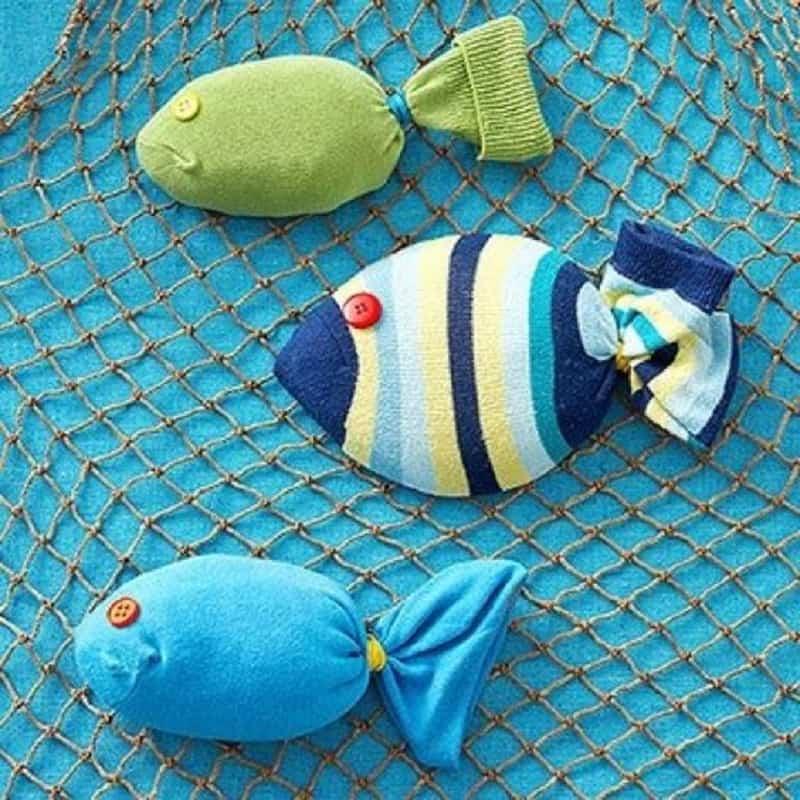 Stuffed sock fish