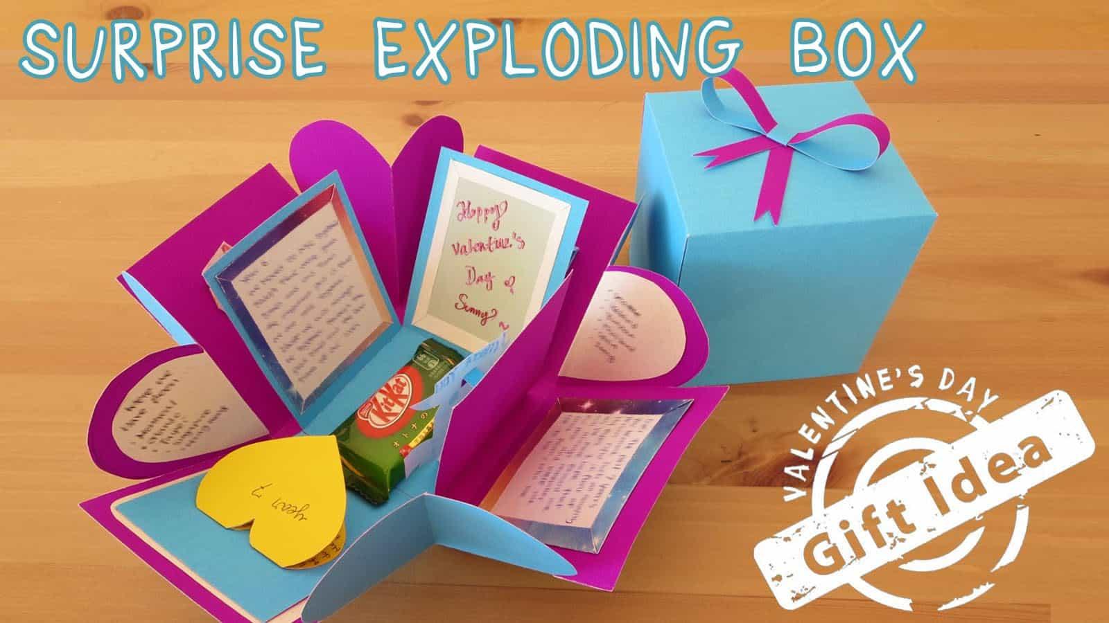 Suprise exploding box