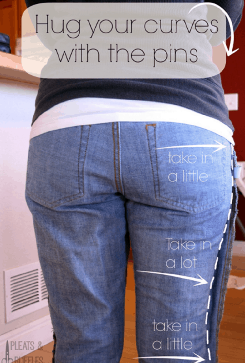 Take jeans in at the bum
