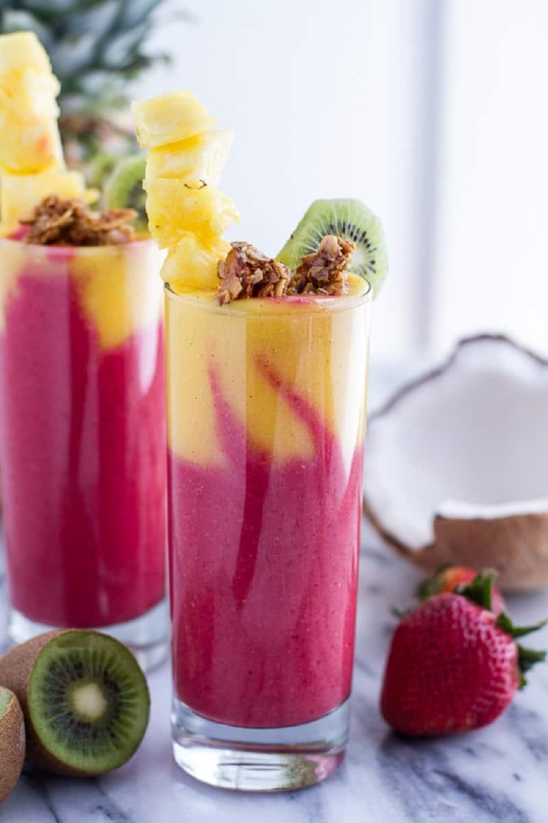 Tropical fruit basket smoothie