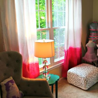 Colorful Dip Dye Ombre Curtains for Every Room