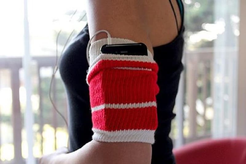 Workout sock phone case