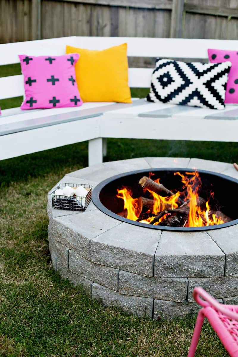 4-step fire pit